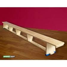 Banca gimnastica cu picioare din lemn - 4m