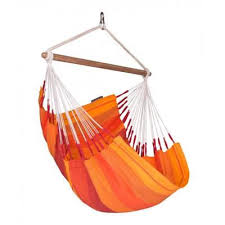Hamac scaun Basic pentru o persoana, portocaliu, Orquidea, La Siesta