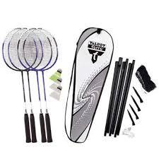 Set badminton cu fileu 4 rachete Fighter cu husa, Talbot-Torro