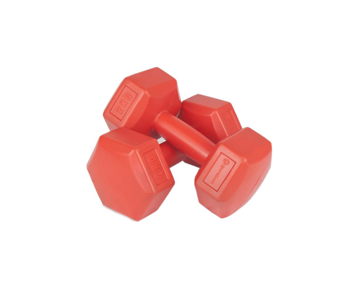 Set gantere PVC cu ciment 2x2 kg, Sportamann