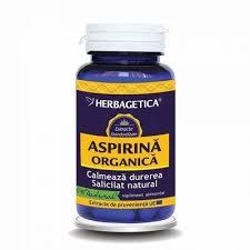 Aspirina Organica, 60 capsule, Herbagetica