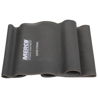 Banda elastica aerobic si fitness, 120x15cm, intensitate foarte tare, gri