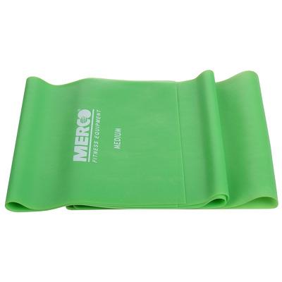 Banda elastica aerobic si fitness, 120x15cm, intensitate medie, verde