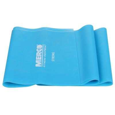 Banda elastica aerobic si fitness, 120x15cm, intensitate tare, albastru