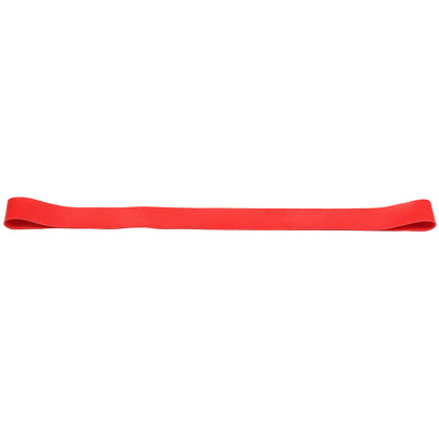 Banda elastica circulara pentru exercitii fitness, rezistenta medie, rosu