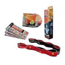 Banda elastica fitness 10kgf Elastiband - rosu + DVD exercitii