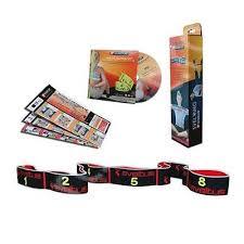 Banda elastica fitness 15kgf Elastiband - negru + DVD exercitii