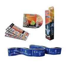 Banda elastica fitness 20kgf Elastiband - albastru + DVD exercitii