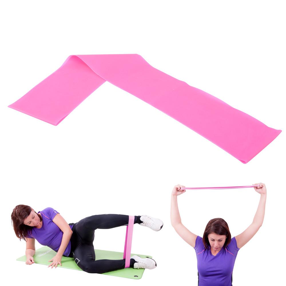 Banda elastica fitness, 90cm, light, Hangy, roz