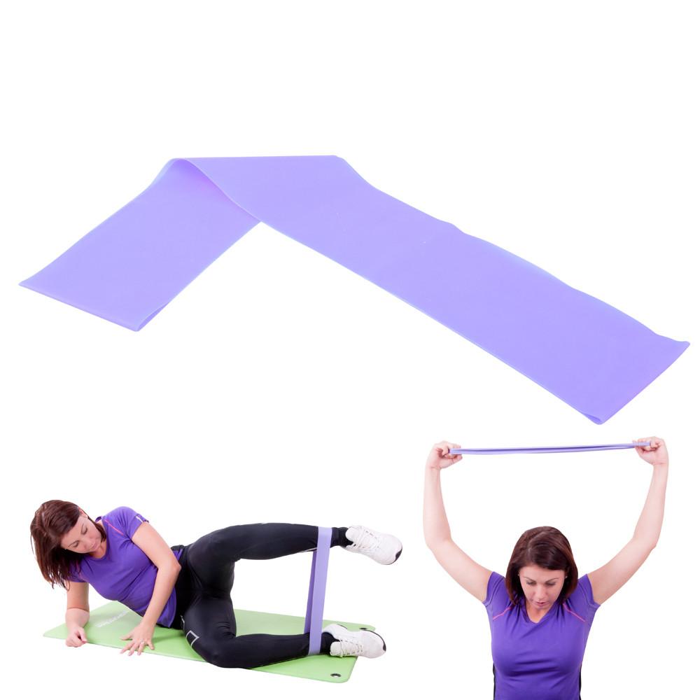 Banda elastica fitness, 90cm, mediu, Hangy, mov