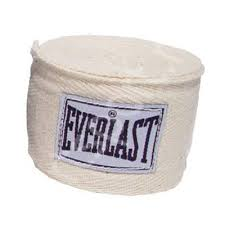 Bandaje box bumbac/spandex, 3m, alb, Everlast