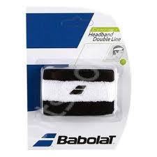 Bandana tenis Babolat Double line - alb-negru