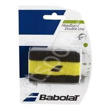 Bandana tenis Babolat Double line - galben-negru