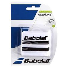 Bandana tenis Babolat Headband - alb