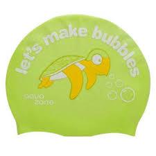 Casca inot pentru copii din silicon, Bubbles-Turtle, Aquazone
