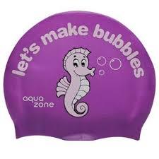 Casca inot pentru copii din silicon, Bubbles-Sea Horse, Aquazone