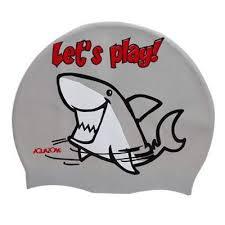 Casca inot pentru copii din silicon, Sharky, Aquazone