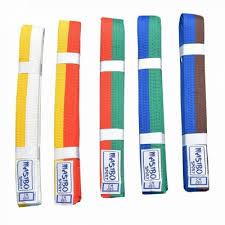 Centura arte martiale Bicolora 50/50, culoare albastru-maro, 220cm
