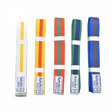 Centura arte martiale Bicolora cu Tresa, culoare verde-albastru, 220cm