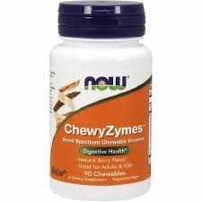 ChewyZymes Enzime Digestive, 90 tablete, Now