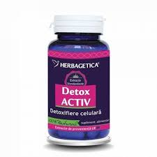 Detox activ, 60 capsule, Herbagetica