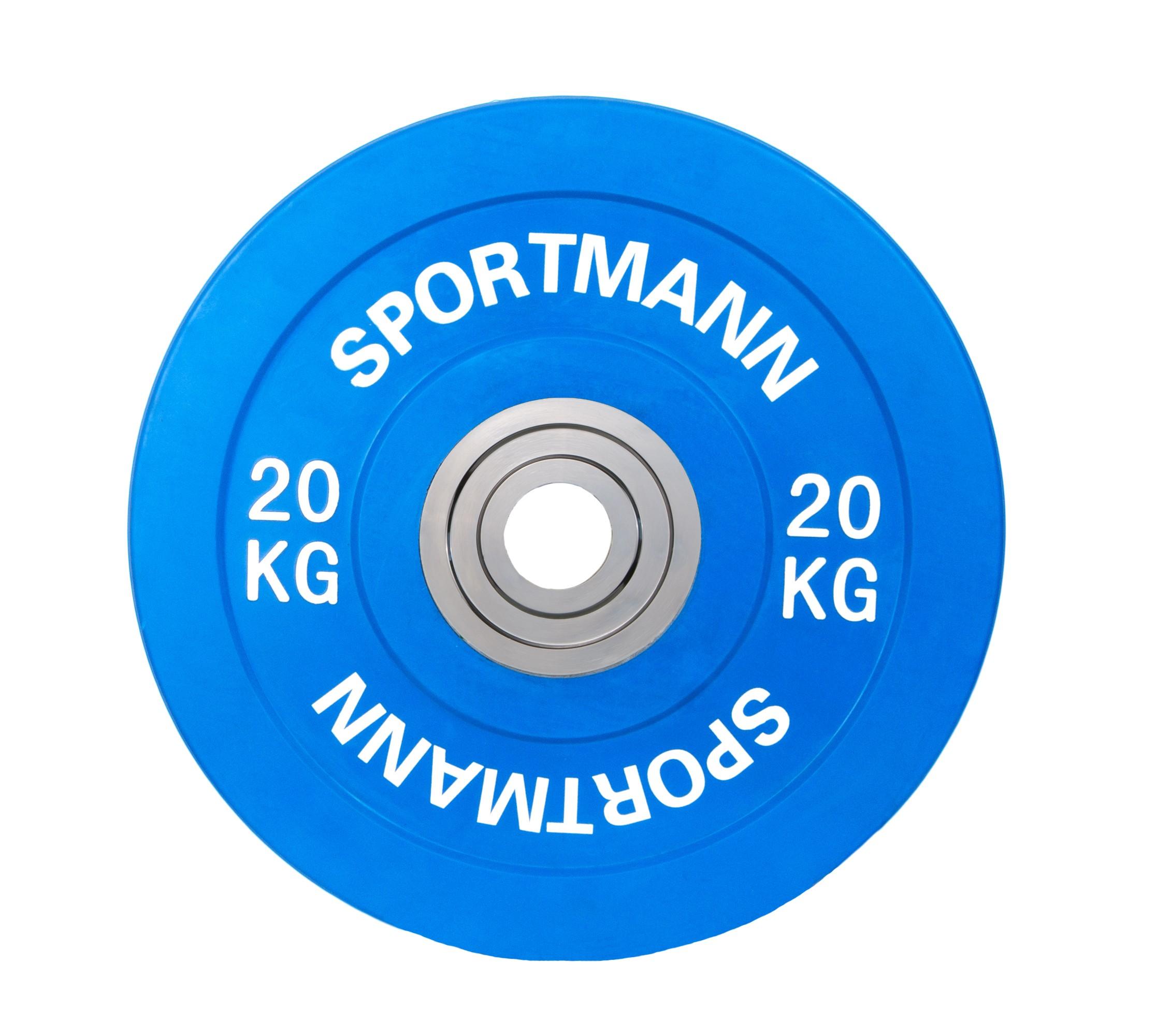 Disc cauciucat 20kg, diametru 51mm, albastru, Bumper Plate