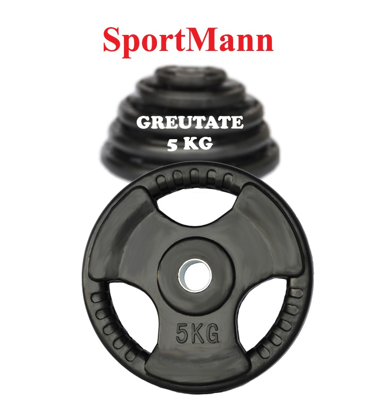 Disc cauciucat 5kg, 30mm, SportMann