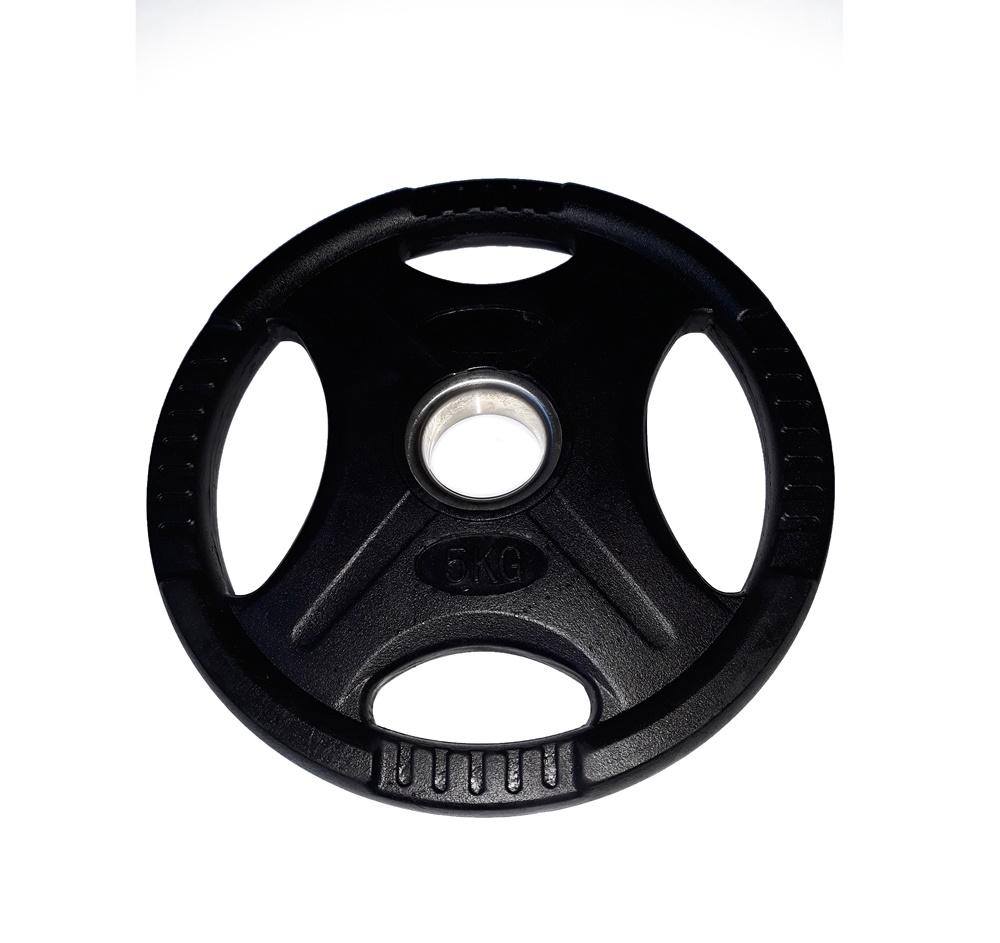 Disc olimpic 5kg cu inel metalic, diametru 50mm