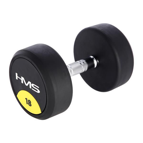 Gantera fitness rotunda, cauciucata, 18kg