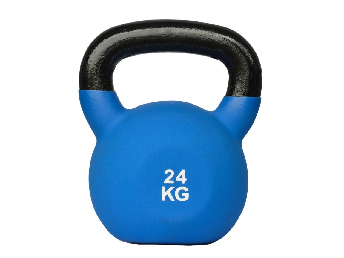 Gantera Kettlebell, neopren, 24kg