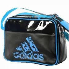 Geanta echipament sportiv, Messenger Negru-Albastru, marime S, Adidas