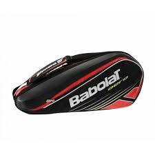 Geanta tenis Aero, 9 rachete, rosu-negru