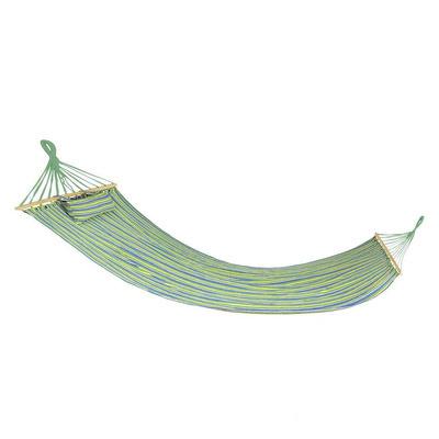 Hamac din bumbac organic, pentru o persoana, 200x120cm, verde, Bigrest, Spokey
