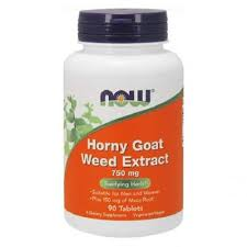Horny Goat Weed Extract, 750mg, 90 tablete, Now