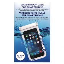 Husa impermeabila telefon, transparenta, ecran 5.5inch
