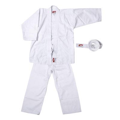 Kimono karate alb, bumbac 270g, 140cm, centura alba inclusa