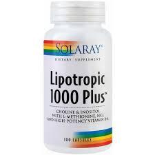 Lipotropic 1000 Plus, 100 capsule, Solaray