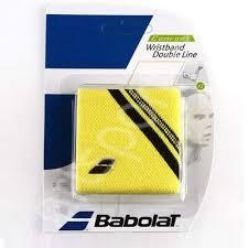 Mansete tenis Babolat Double line - galben