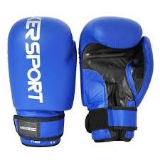 Manusi box antrenament, 12oz, PU, albastru, Axer Sport