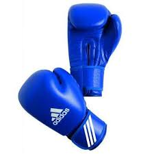 Manusi box aprobate AIBA, 10 oz, albastru, Adidas