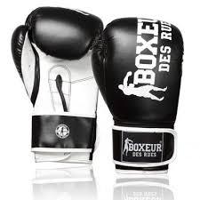 Manusi de box, piele sintetica, 10oz, negru, Boxeur des Rues