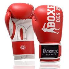 Manusi de box, piele sintetica, 12oz, rosu, Boxeur des Rues