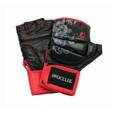 Manusi lupte libere Dragon, XL, negru-rosu, Bruce Lee