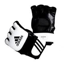 Manusi mma antrenament, negru-alb, Adidas