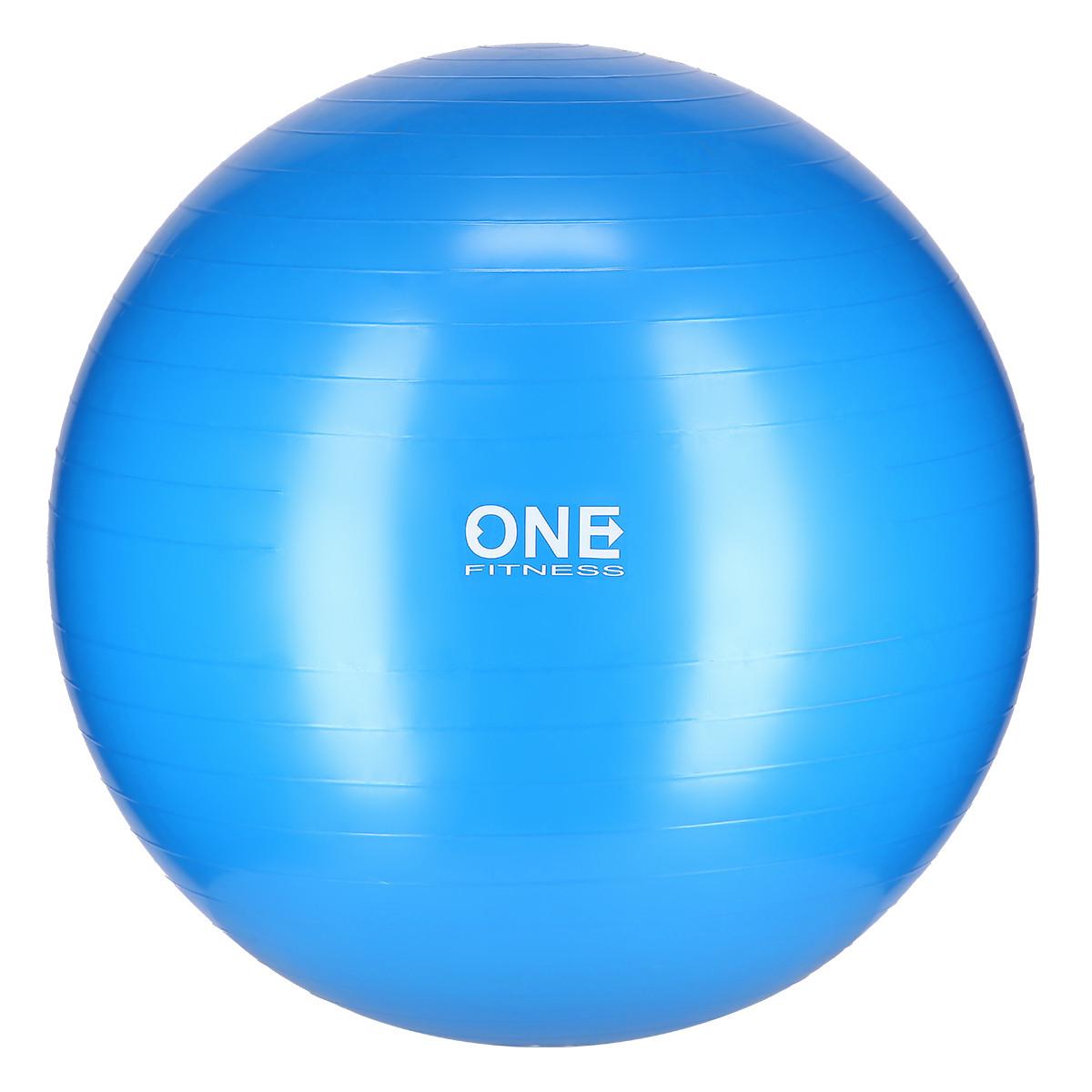 Minge aerobic 75cm, anti-spargere, pompa inclusa, albastru