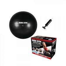 Minge exercitii aerobic si fitness, 55cm, negru, pompa inclusa, Gym Essential