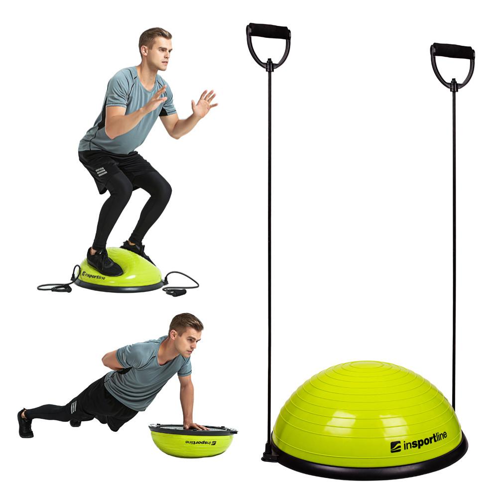 Minge exercitii echilibru cu corzi, tip BOSU, Dome UNI, verde