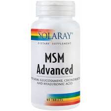 MSM Advanced, 60 tablete, Solaray