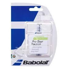 Overgrip racheta Pro Tour Traction (3 buc) - alb