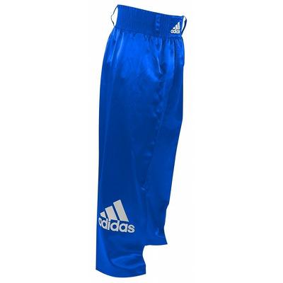 Pantaloni lungi kickbox, albastru, 140cm